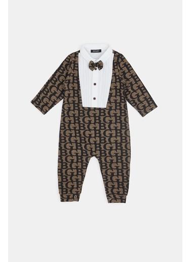 BG Baby Erkek Bebek Desenli Tulum Renkli
